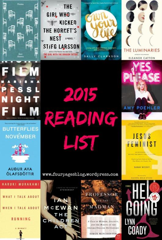 Reading List 2015